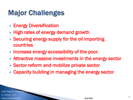 Major Challenges - Arab Climate Resilience Initiative