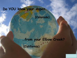 geography options presentation
