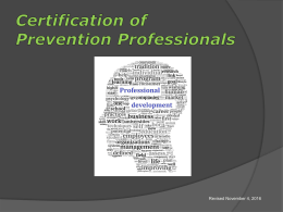 here - Prevention Specialist Certification Board of Washington