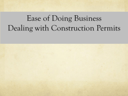 Ease of doing business dealing with