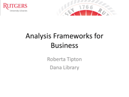 Analysis Frameworks for Business
