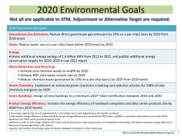 2020 Environmental Goals (link to pptx)