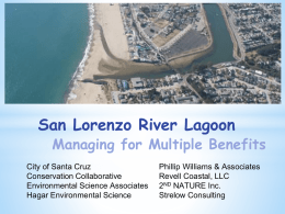 San Lorenzo River Lagoon Managing for