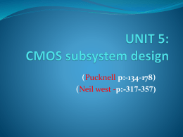 Unit-5 CMOS subsystem design - KIT