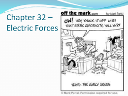 Chapter 32 * electrostatics