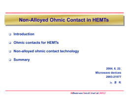 Non-alloyed Ohmic contact