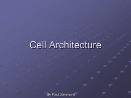 CELL Architecture - Cursuri Automatica si Calculatoare