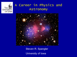 A Career in Physics and Astronomy