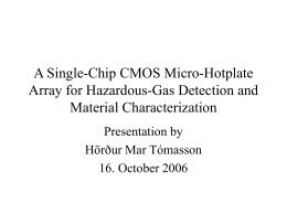 A Single-Chip CMOS Micro-Hotplate Array for Hazardous