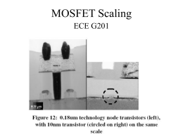 MOSFET Scaling - Northeastern University