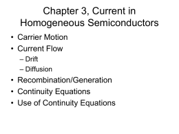 Chapter 3, Current in Homogeneous Semiconductors