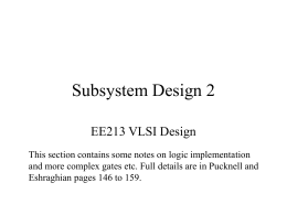 Subsystem Design 2 - Electronic Engineering Intranet