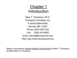 EE529 talk - Thompson Consulting