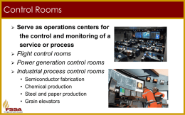 Control Rooms - Fire Suppression Systems Association
