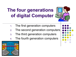 ThE fOuR gEnEraTioNs oF dIgiTaL CoMputEr