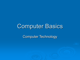 Computer Basics Notes - Corvallis School District #1
