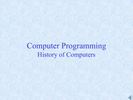 History of Computers ppt