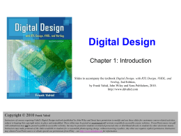 Digital Design - CS Course Webpages