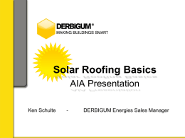 Solar Roofing Systems - AIA