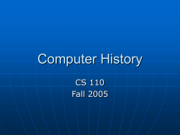 PowerPoint - University of Virginia, Department of Computer Science