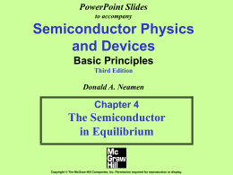 PowerPoint Slides to accompany Semiconductor Physics and
