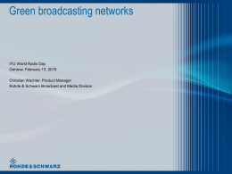 Green broadcasting networks