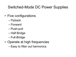 Switched - Mode DC Power Supplies