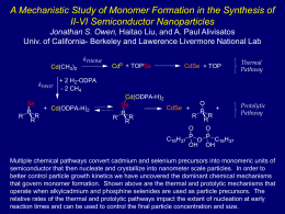 A Mechanistic Study of Monomer Formation in the Synthesis of II
