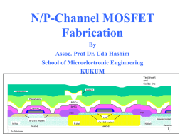 n-channel MOSFET Fabrication