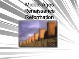Middle Ages Renaissance - Hostos