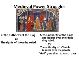 """God"" gave them to watch over. Feudalism had"