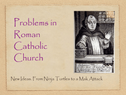 Problems in Roman Catholic Church