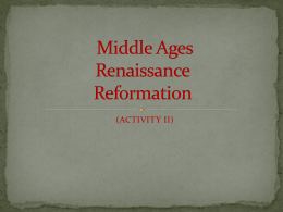 Middle Ages(PART III)