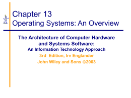 13. Operating Systems