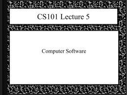 CS101 Lecture - SSU Department of Computer Science
