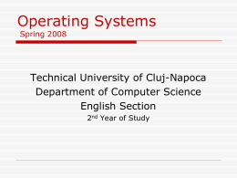 Operating Systems Autumn 2003