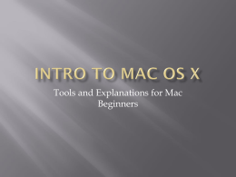 Intro to mac os x