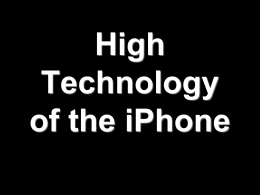 iPhone & High Technology - City University of New York