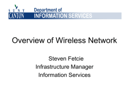Overview of Wireless Network