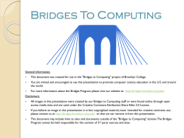 Lecture_1 - bridges to computing