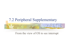 7.2 Peripheral Supplementary