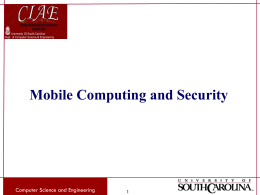 Mobile Computing and Security - Computer Science & Engineering