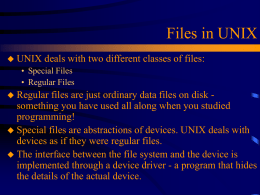 Files in UNIX