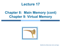Lecture #17: Memory Management