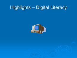 File highlights digital literacy