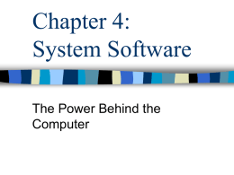 Chapter 3: System Software