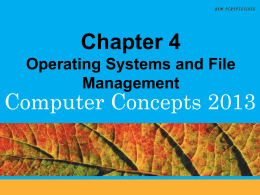 4 Operating System Activities