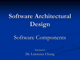 What are Software Components?