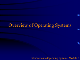 Overview of Operating Systems