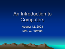 An Introduction to Computers